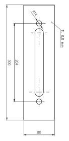 Plech ochrann� pod Bezpe�nostn� kov�n� �=80 mm