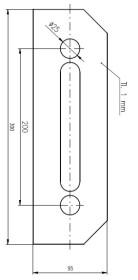 Plech ochrann� pod Bezpe�nostn� kov�n� �=95 mm