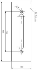 Plech ochrann� pod Bezpe�nostn� kov�n� �=100 mm