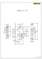 Zámka zadlabovacia Z210 (Bezpečnostné kovanie R3)